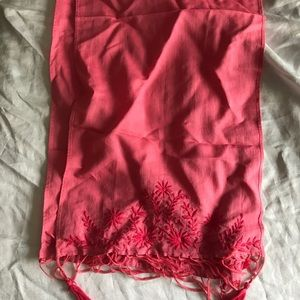 Lucky Brand embroidered cotton scarf